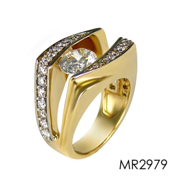 14K yellow gold setting with accent diamonds for a 1.5-2.00 Carat oval shape